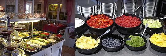 Frühstücksbuffet Hotel Haus am Park in Bad Hersfeld